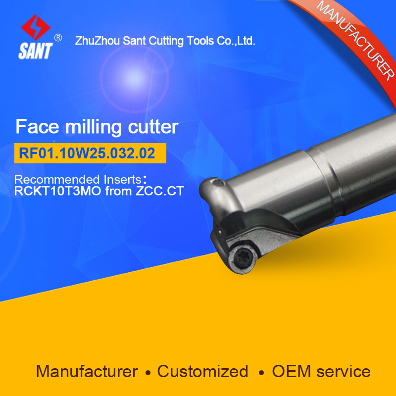 Suggested ZCCCT FMR01-032-XP25-RC10-02  Indexable Milling cutter SANT RF01.10W25.032.02 with RCKT10T3MO carbide insert for ZCC  цены