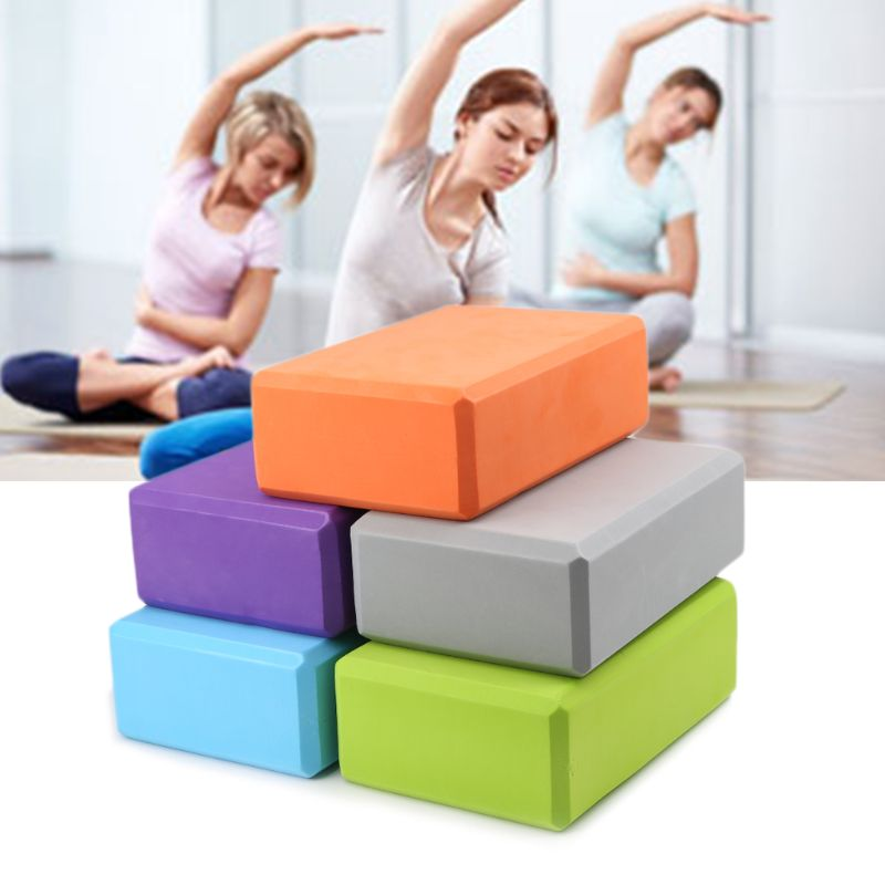 New Women EVA Yoga Block Training Body Shaping Fitness Foam Brick Stretching Aid Health Training Accessories Universal 5 Colors