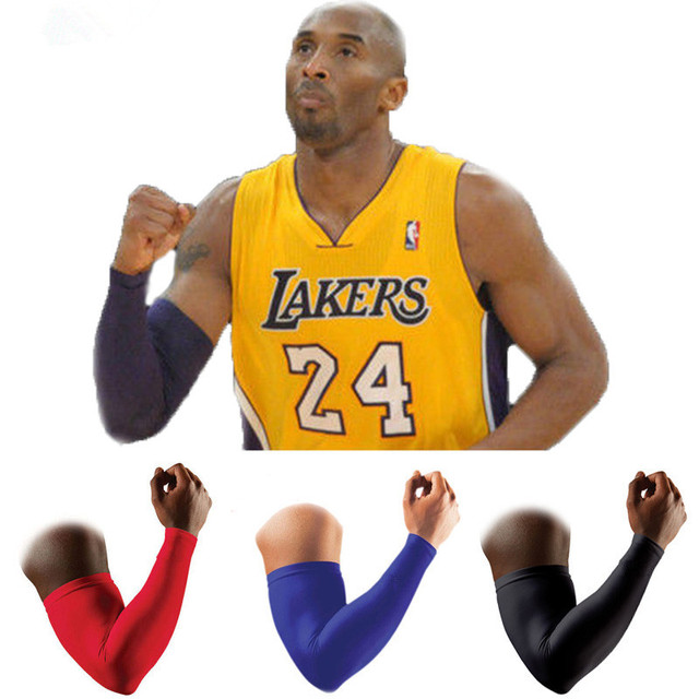 2 Pcs Sports Long Arm Sleeve Support High Elastic Basketball
