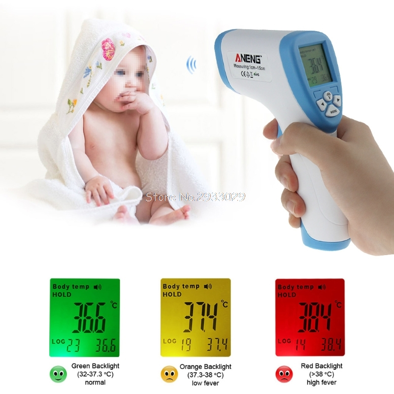 Digital LCD IR Infrared Thermometer Temperature Mete Non contact B116
