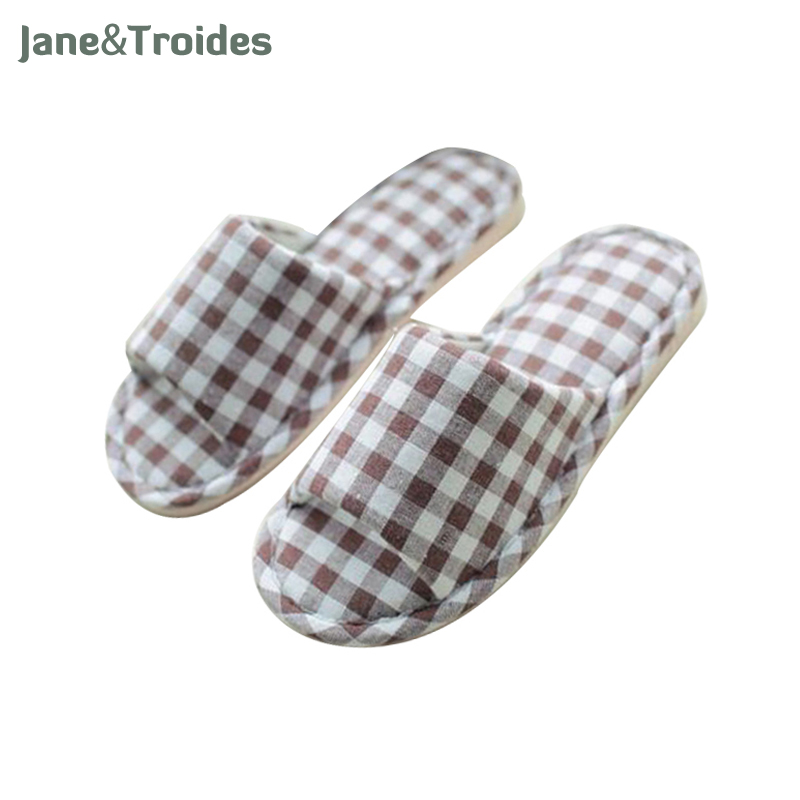 Summer Spring Home Men Slippers Cotton Soft Plaid Casual Flip Flops Anti Slip Indoor Outdoor Sandals Fashion Brand Man Shoes advu 40 20 25 30 35 45 a p a festo compact cylinders advu series
