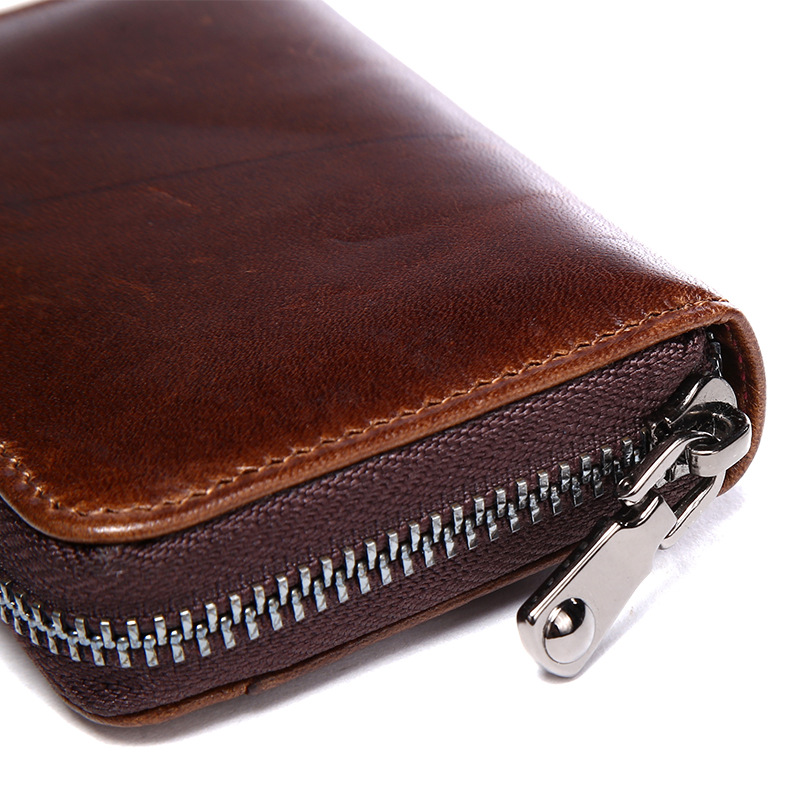 Vintage Credit Card Holder Genuine Leather Business Cards Wallet ID ...