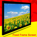 Luxury Top Rank Home Theater Matte White120inch 120''  4:3 Fixed Frame Projection PVC Projector Screen