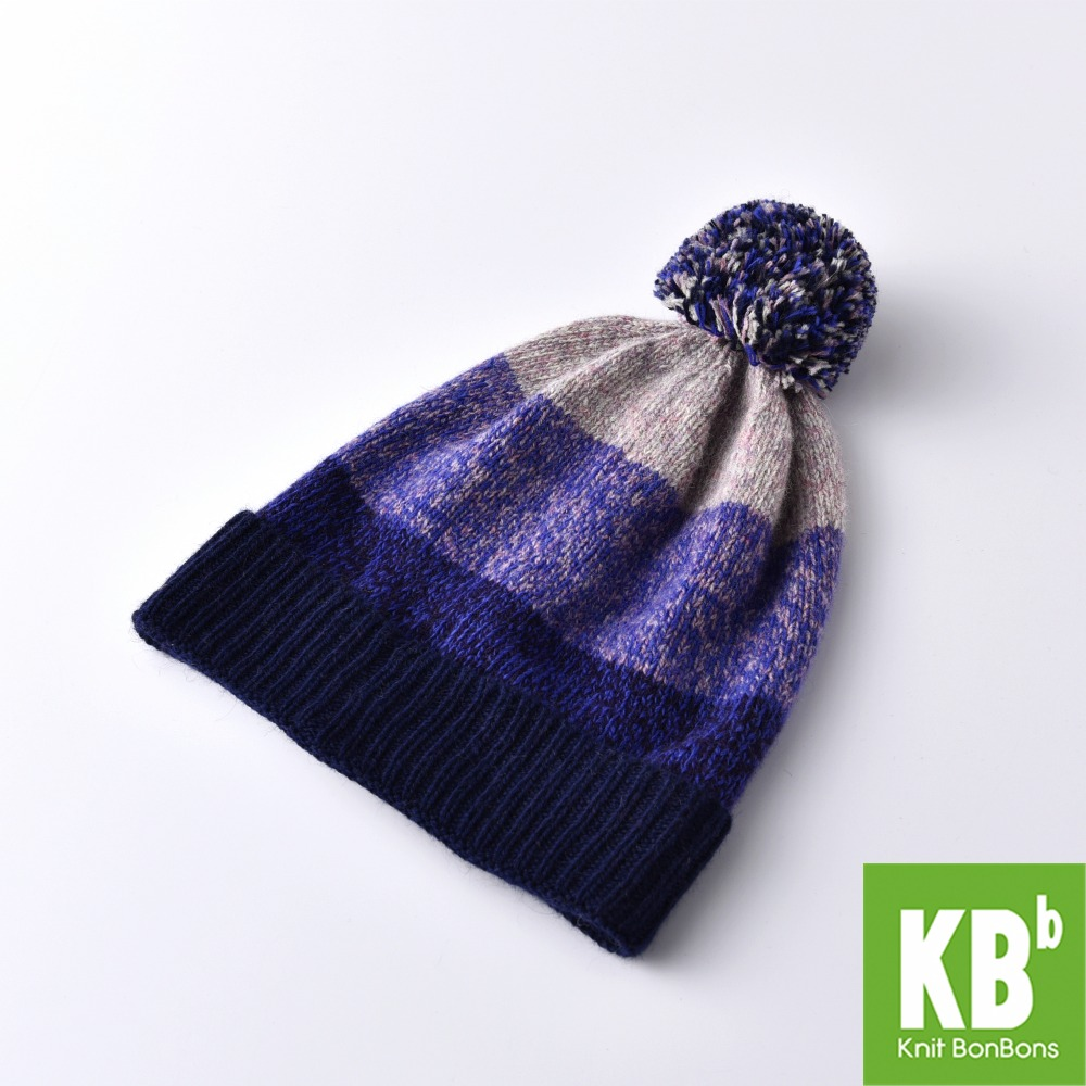 2017 KBB Spring  Hot Style Comfy Purple Women Men Designer Lambswool Wool Yarn Knit Pom