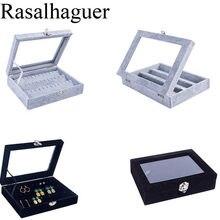 Горячая Распродажа серьги коробка для ювелирных изделий кольца