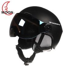 цена на Moon Goggles Skiing Helmet Integrally-Molded PC+EPS CE Certificate Ski Helmet Outdoor Sports Ski Snowboard Skateboard Helmets
