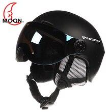 Луна очки для лыжников шлем интегрально-литой PC + EPS CE сертификат лыжный шлем для занятий спортом на открытом воздухе Лыжный Сноуборд шлемы для скейтборда