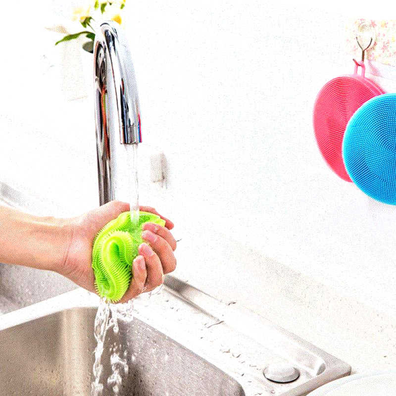 Многофункциональная силиконовая тарелка очистки губки горшок кастрюлю Моечные щетки чистящее средство