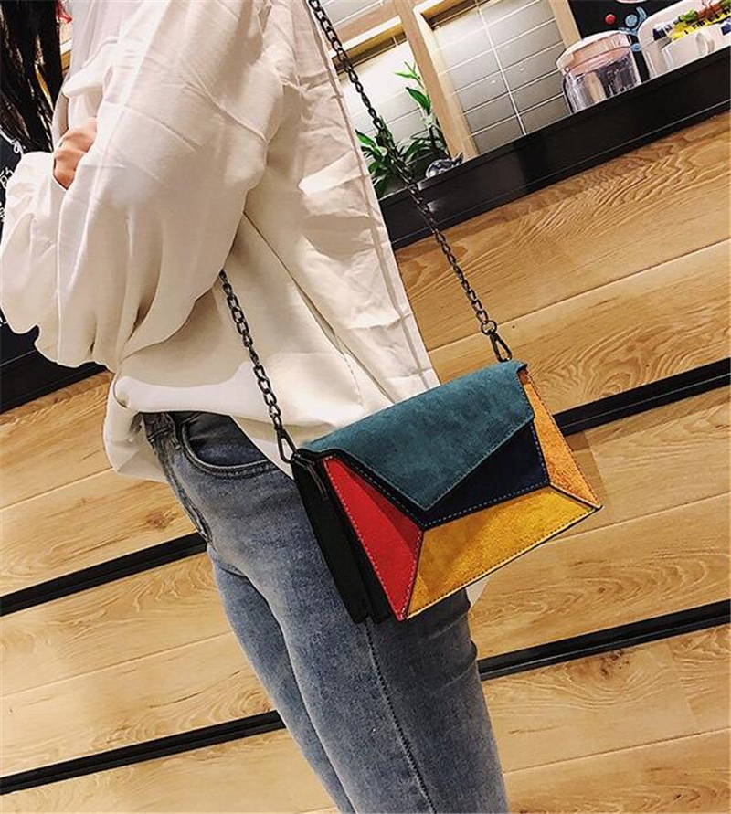 Retro Matte Patchwork Cross-body Bags for Women Bag