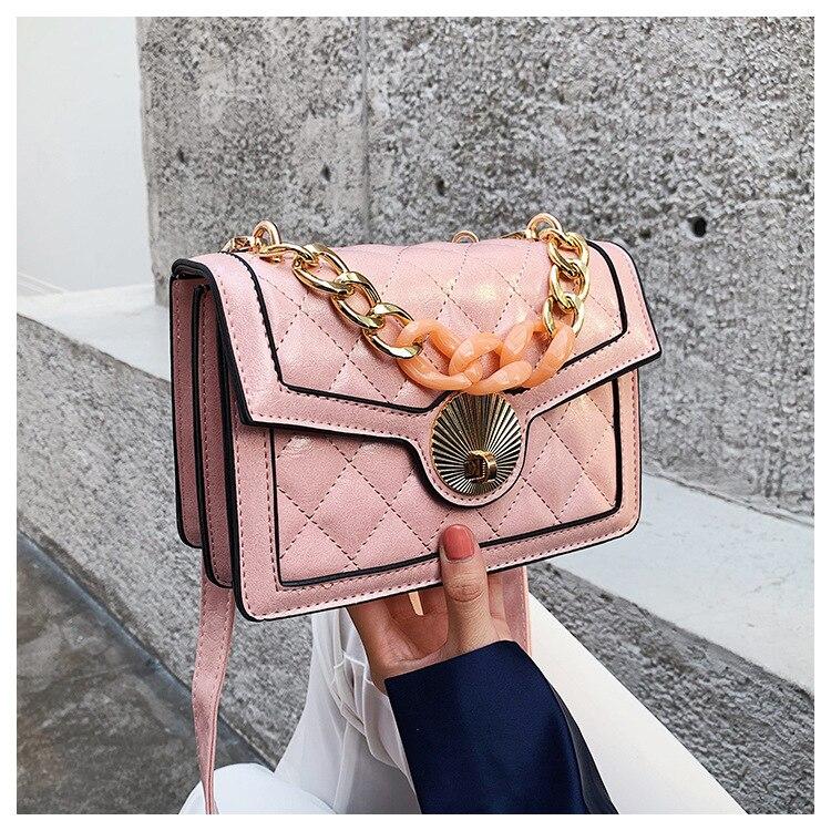 Women's Designer Luxury Channels Bags Shoulder Handbag for Women Quilted Leather Crossbody Flap Bag Fashion PU Lock Tote Handbag (2)