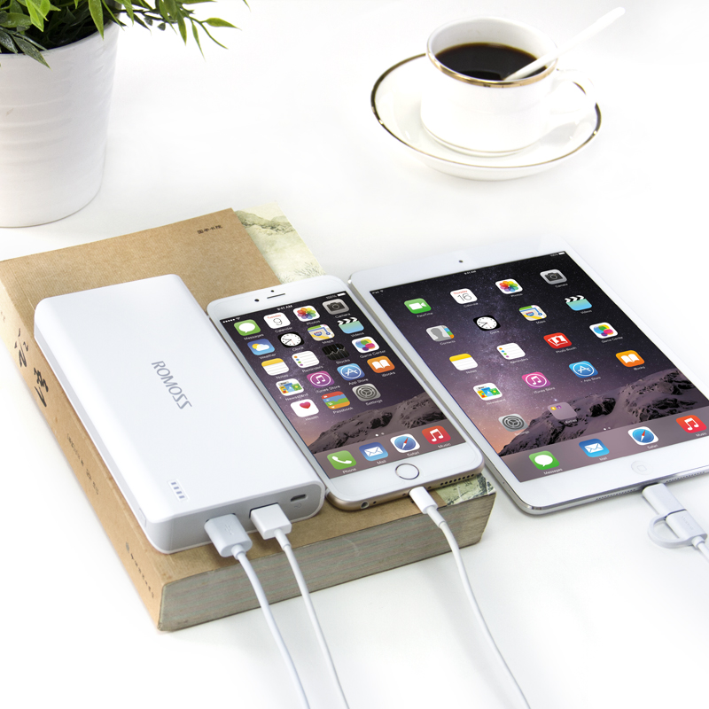 ROMOSS Sense6/ Sense 6 Plus Power Bank 20000mAh External Battery Dual USB Output for Mobile Phones