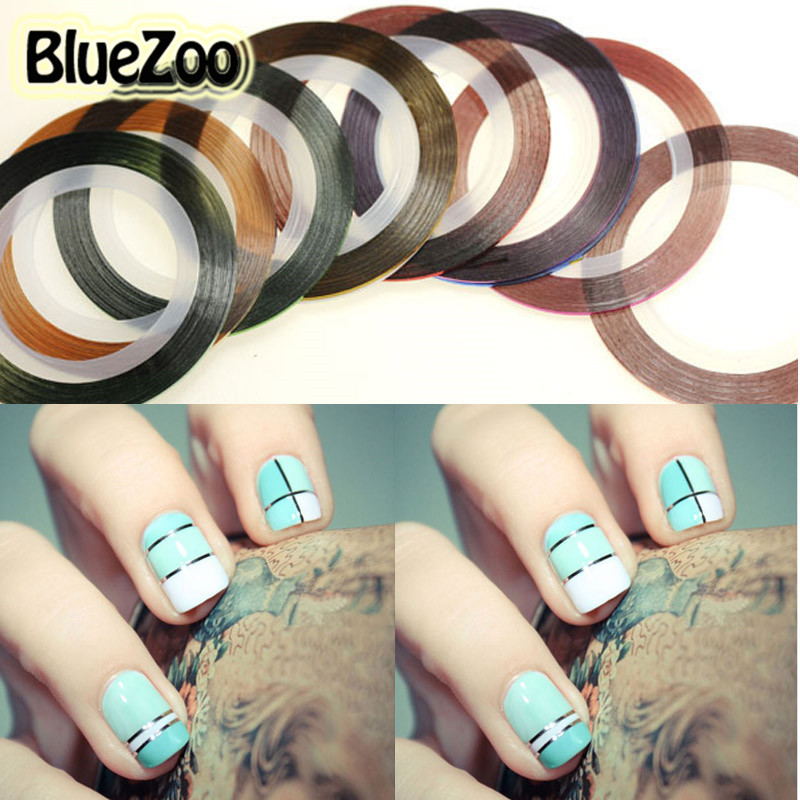 Striping Tape Line Nail Art: BlueZoo Fashion 10 Color Rolls Striping Tape Line Nail Art