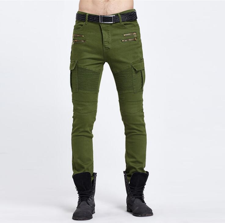 #1904 2016 Punk designer jeans Joggers homme Brand clothing Hip hop jeans Baggy jeans Skinny Mens biker jeans Pantalones hombre