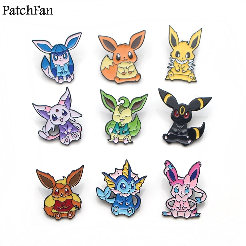 Home & Garden 20pcs/lot Patchfan Pocket Monster Eevee Cartoon Zinc Tie Pins Backpack Clothes Brooches For Men Women Hat Badges Medals A1650 Activating Blood Circulation And Strengthening Sinews And Bones Arts,crafts & Sewing