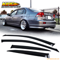 For 01-05 Honda Civic ES1 ES2 7Th Gen Sedan JDM Window Visor Rain Guard