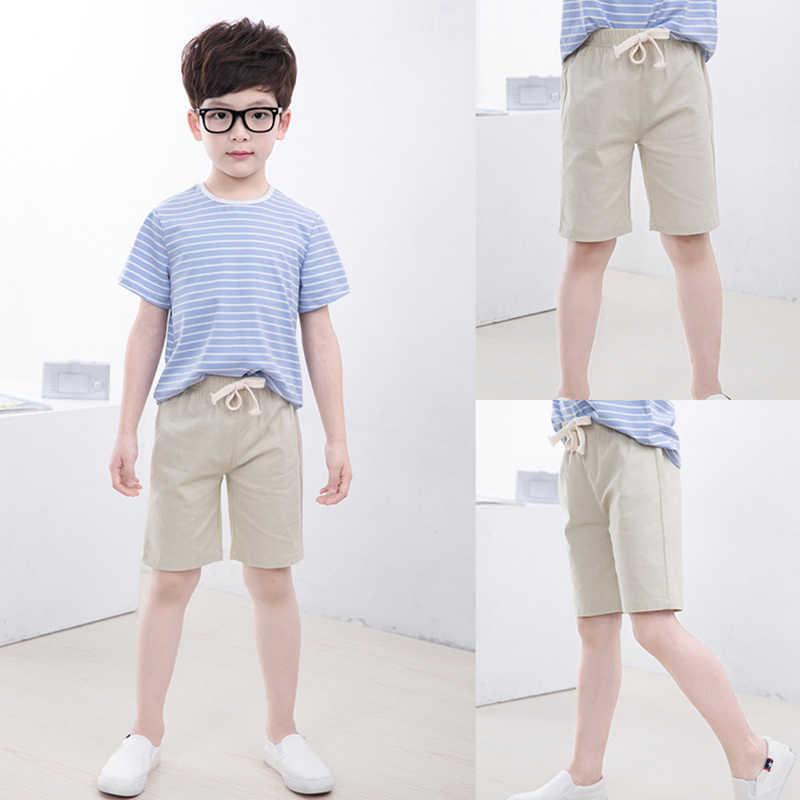 2-10 lat dzieci chłopcy spodnie spodenki do kolan cukierki kolor dziewczyny dzieci lato plaża luźne spodenki spodnie bawełniane i lniane