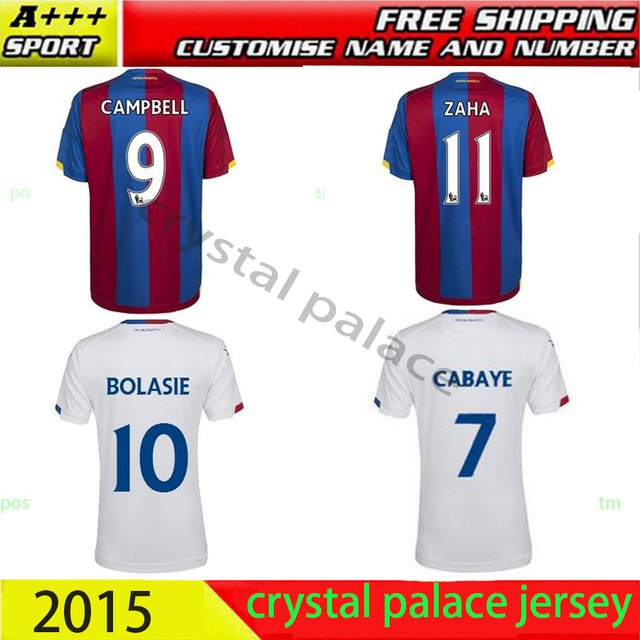 7bdc30577a9e Top thai Quality 15 16 Crystal Palace home away soccer jersey 2015 2016  sakho Campbell zaha sanogo football shirt free shipping