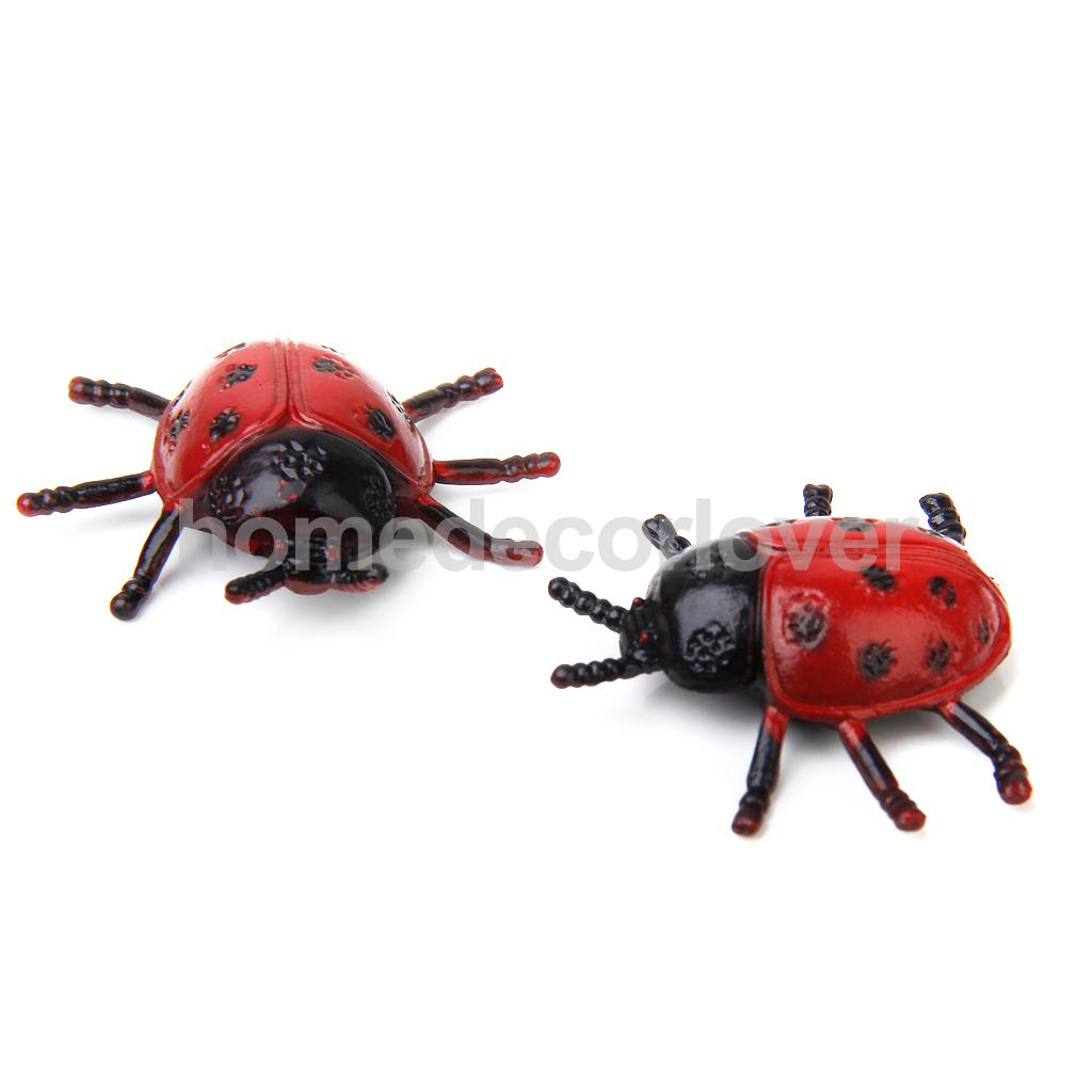 2 шт. дети природы образование Home Decor Coccinella Septempunctata Игрушка насекомых животного