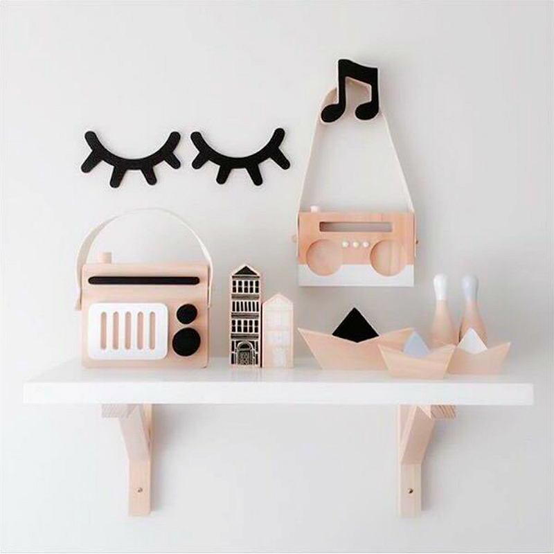 Us 2 84 50 Off Decoration Wall Cute Wooden Eyelash Decorative Shelves Decor Accessories Children Kids Baby Room Home 1 Pair In