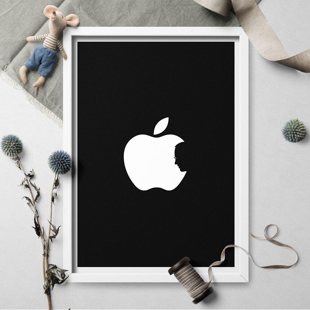 Black And White Art Print Steve Jobs Apple Canvas Painting Poster Print Wall Art Pictrue For Living Room Home Decor Unframed