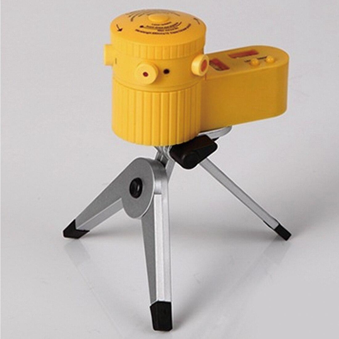 Ferramenta horizontal vertical multifunction da linha do nivelador do nível do laser da cruz com amarelo do tripé