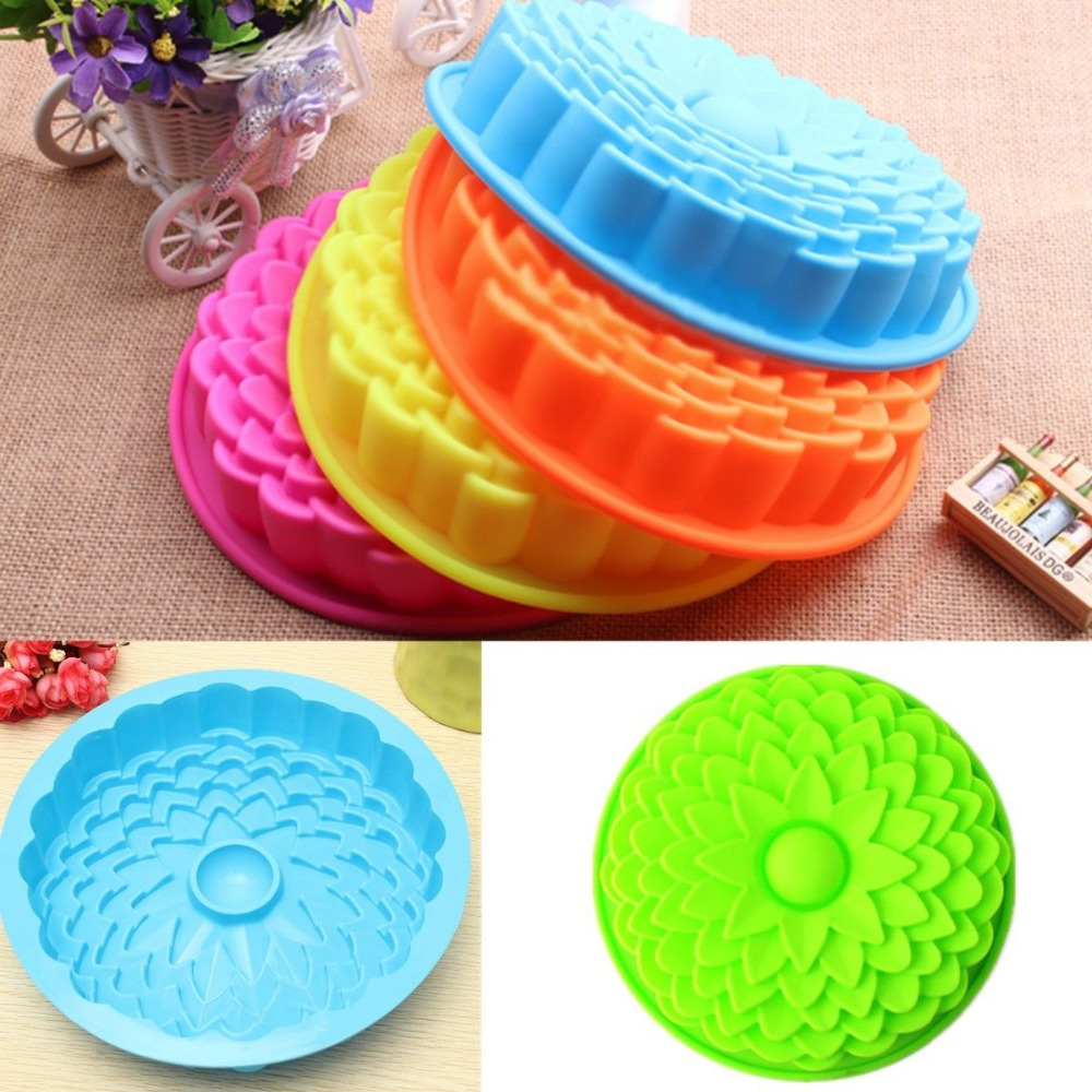 Big silicone cake mold dessert molds sunflower styling - Moldes de silicon para reposteria ...