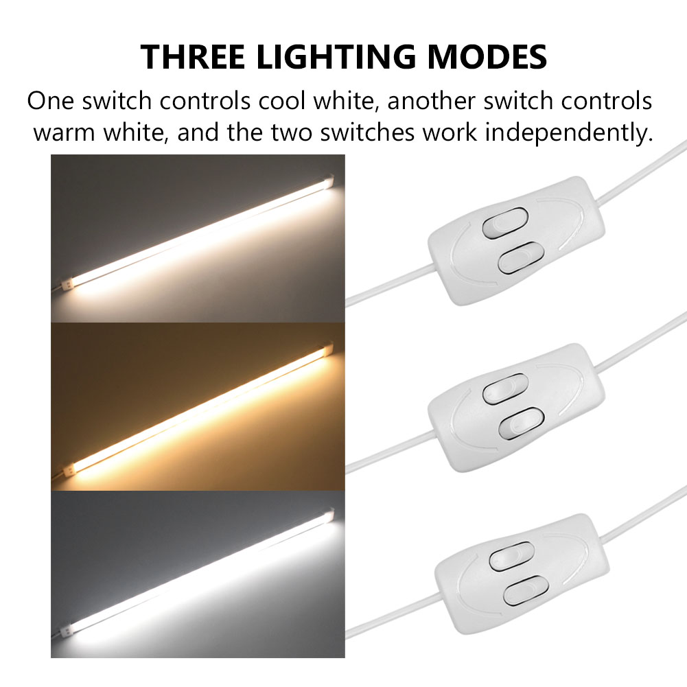 TSLEEN 5V USB LED Rigid Bar Light 35 CM Portable Hard Tube LED Strip Lamp Switch Night School Reading Book Desk Lighting Bulb