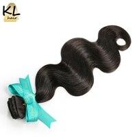 KL Hair Brazilian Virgin Hair Body Wave Hair Bundles 100 Human Hair Weaving Natural Color 8