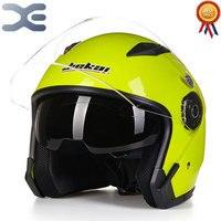 Neue Motorrad Helm Winter Warm Helm Batterie Auto Helm Lokomotive Männer Und Frauen Helme Mode