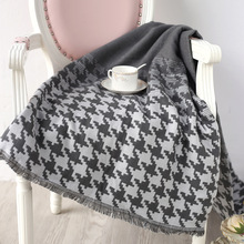 Autumn and Winter Blankets New Knit Sofa Blanket Air Conditioning Blanket Single Lunch Break Blanket цена