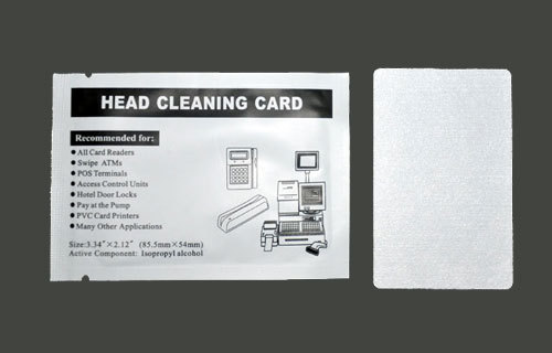 Free Shipping 1000 pcs Card Reader Cleaning Card CR80 Head Clean Cards Presaturated with IPA cleaning