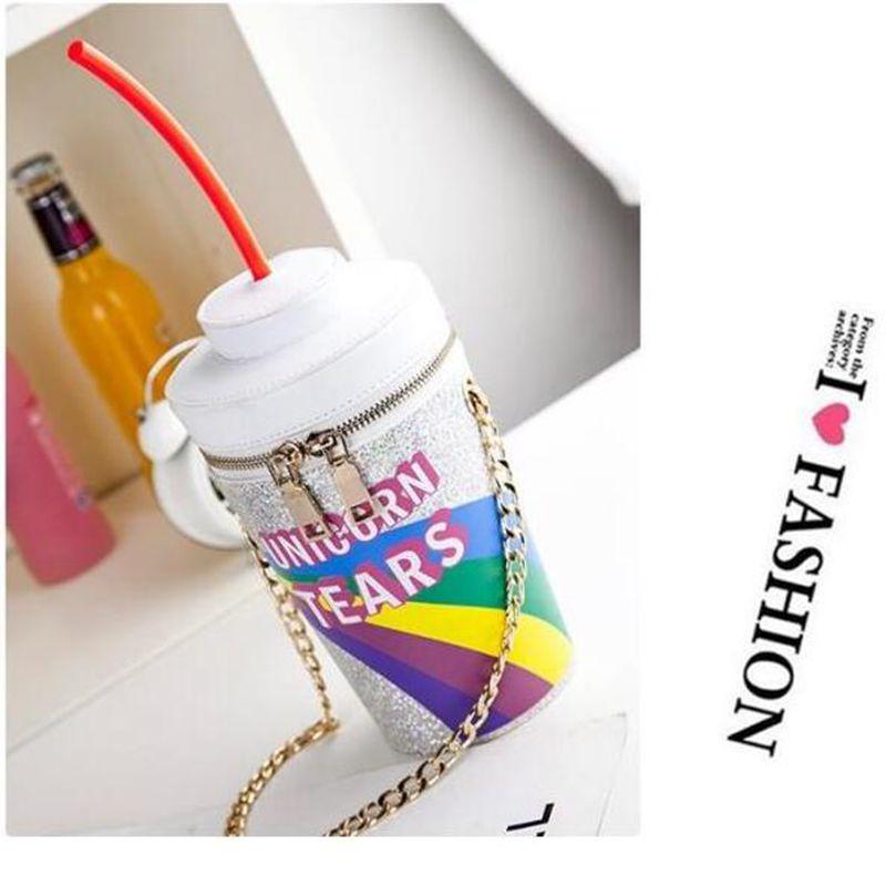 2018 personalized women Simpsons bag drink soda bottles modeling narrow Dip unicorn tears novelty women Shoulder Bag clutch bag