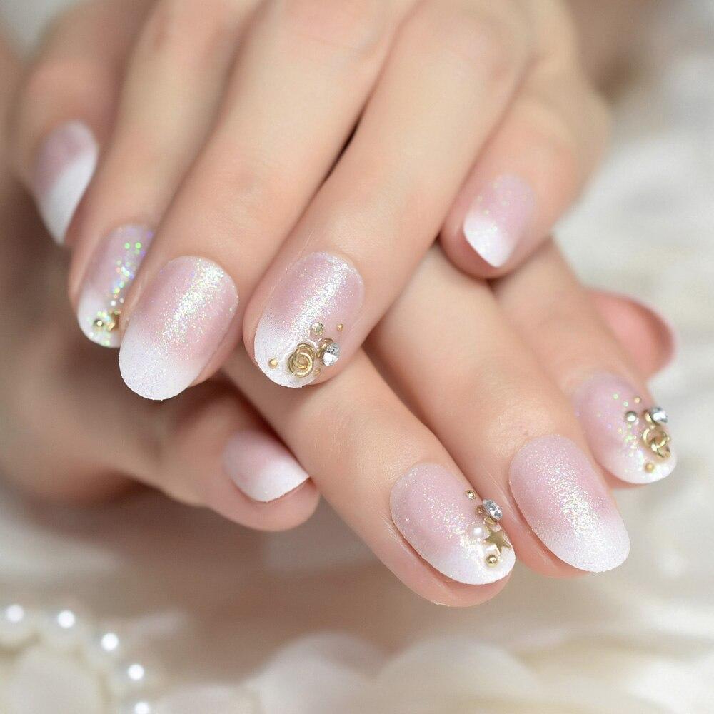 Arte de uñas salón francés acrílico Kit de uñas Petite ...