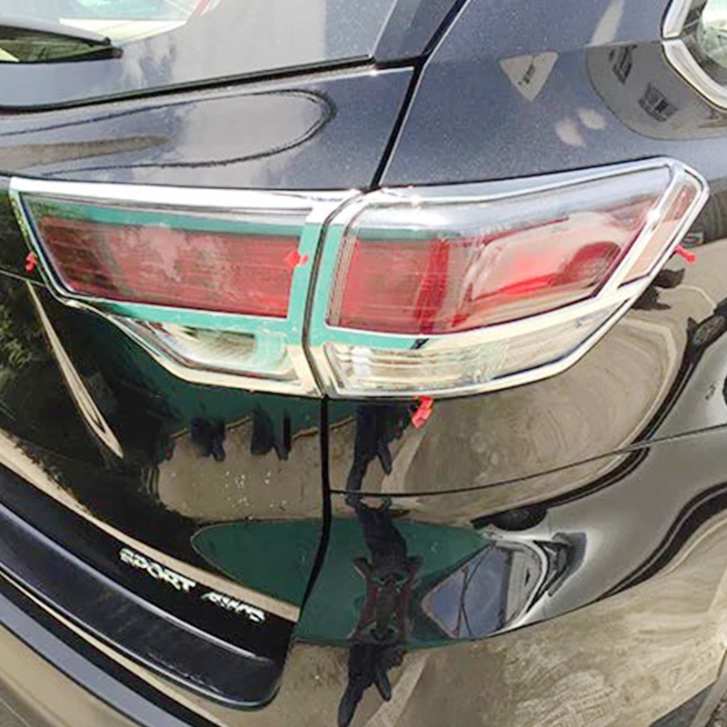 ABS Chrome For Toyota Highlander Kluger 2015 accessories car styling Car Tail Light cover Cover TrimABS Chrome For Toyota Highlander Kluger 2015 accessories car styling Car Tail Light cover Cover Trim