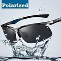 2014 new hombres de la marca de gafas de sol polarizadas tac lente marco de aluminio-magnesio gafas de sol del conductor de coche gafas de sol polarizadas