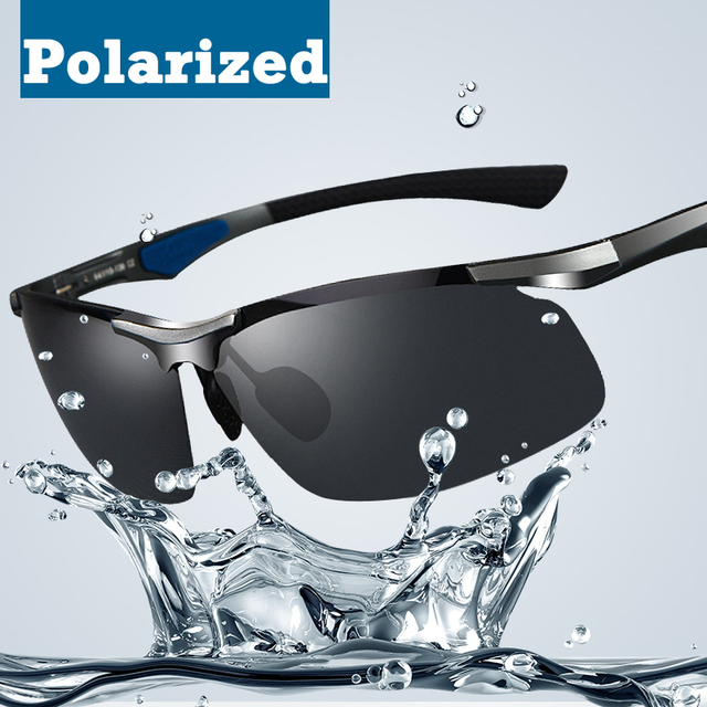 2014 new marca tac lente polarizada óculos de sol dos homens quadro óculos de sol óculos de motorista de carro de óculos polarizados óculos de sol de alumínio-magnésio