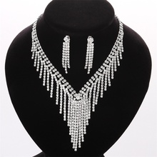 High Quality Fashion cheap crystal necklace for wedding Jewelry sets DS008