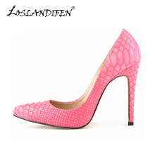 Sanke Estilete de Los Altos Talones Bombas de Las Mujeres Del Nuevo Diseñador de Cuero Slip-on Bombas Del Dedo Del Pie Puntiagudo Mujer Zapatos de la Boda A La Venta 302-1Snake