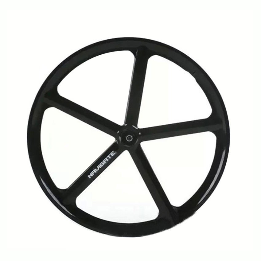 Magnesium Alloy road bike 700C wheel 5 spokes fixie Bicycle Mag TRI front rear wheel Mag Alloy Fixed gear bike wheels Rims new 7075 48t single speed fixed gear fixie bike crankset cycling road track bicycle crank set chain wheel