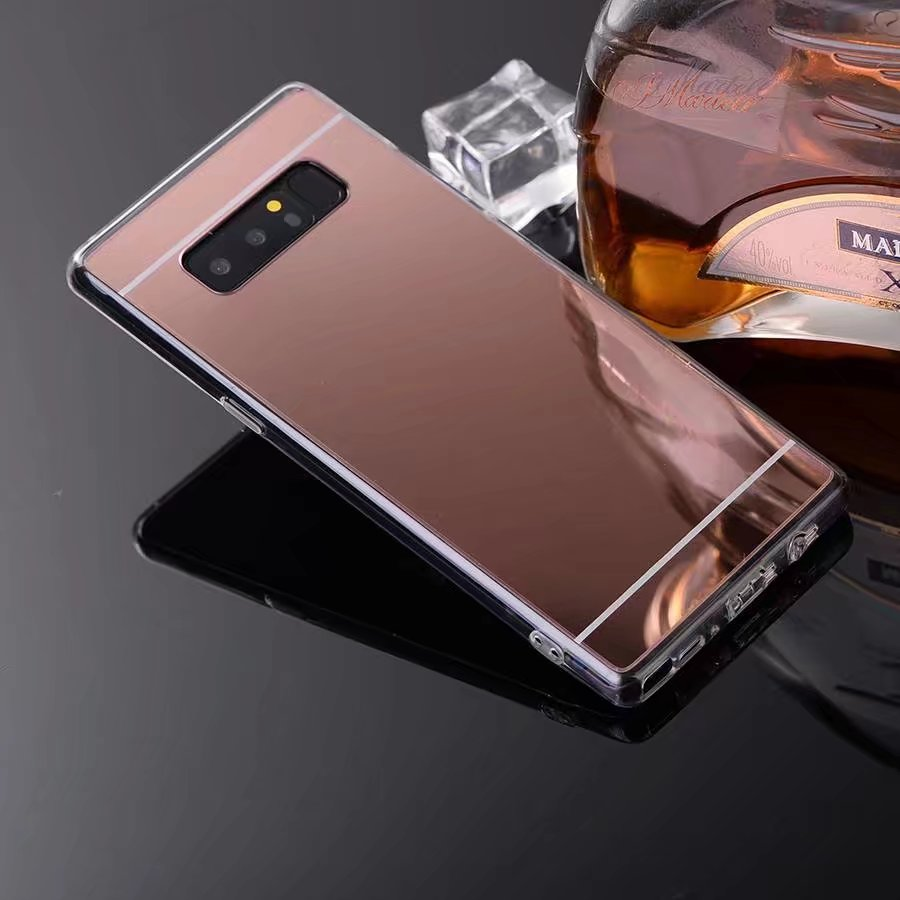 quality design 1d16e d7841 US $1.69 15% OFF|For Samsung galaxy note 8 Case Luxury Mirror Case Soft TPU  Cover Case For galaxy Note 8 Back Cover Shell-in Half-wrapped Case from ...