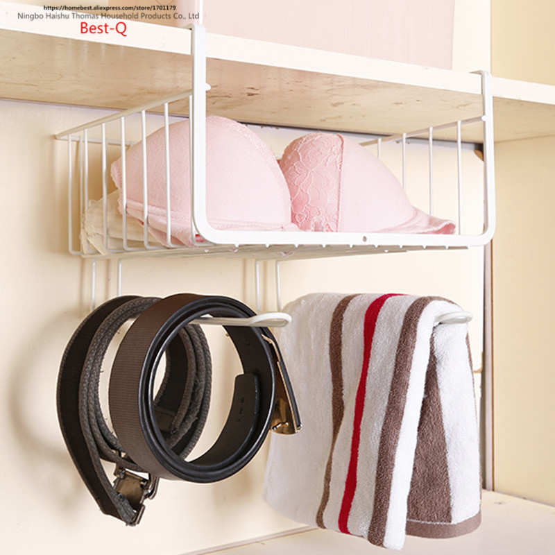 Image 4 - Free shipping closet shelf storage rack layered storage rack hanging basket shelf rack dormitory kitchen cabinets storage rack-in Storage Holders & Racks from Home & Garden