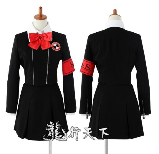 Shin Megami Tensei Persona 3 Mitsuru Kirijo Chihiro Fushimi uniforme scolaire féminin Costume Cosplay costume Halloween sur mesure