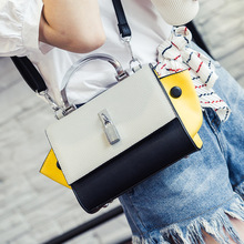 2016 Korean tide new package wings fashionable summer panelled color handbag shoulder bag lock women messenger bags trapeze