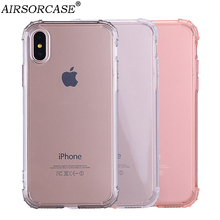For Apple iPhone XS X 10 Case Anti-knock Simple Phone Case for iPhone 6 6S 7 8 Plus 7Plus Soft TPU Back Cover for iPhone 8 8Plus