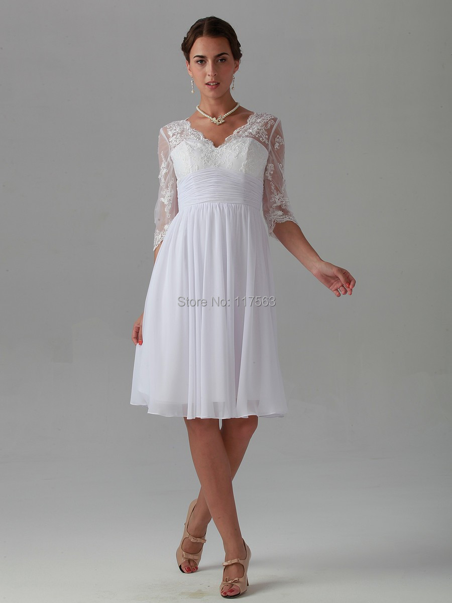 White dress with sleeves knee length good dresses elbow length white lace knee length dress elbow length white lace knee length dress dress junglespirit Images