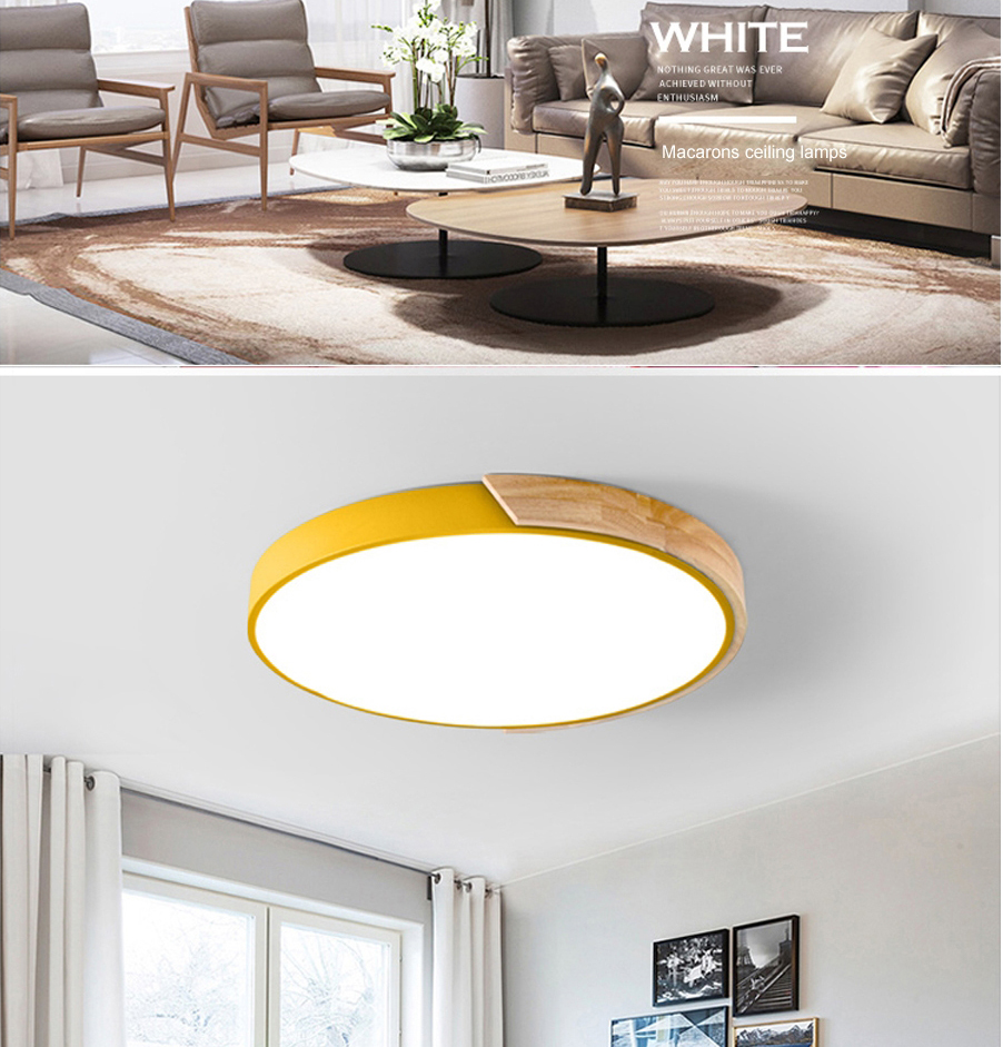 Enthusiastic 24w Round Led Ceiling Lights Modern Flush Mounted Led Ceiling Lamp For Living Room Bedroom Decoration Fixtures Lighting Elegant In Smell Lights & Lighting Ceiling Lights