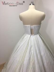 Image 5 - VARBOO_ELSA 2018 Liebsten Ärmellose Abendkleid Weiß Pailletten Sparkly Prom Kleid Luxus Ballkleid Benutzerdefinierte vestido de festa