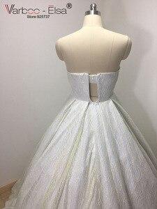 Image 5 - VARBOO_ELSA 2018 Sevgiliye Kolsuz Gece Elbisesi Beyaz Payetli Parlak Balo Elbise Lüks Balo Custom vestido de festa