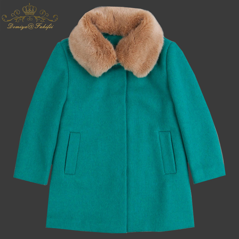 2018 New Brand Winter Autumn Children Fur Collar Wool Jackets Baby Single Breasted Child Coat Girl Outerwear For Girl Clothes