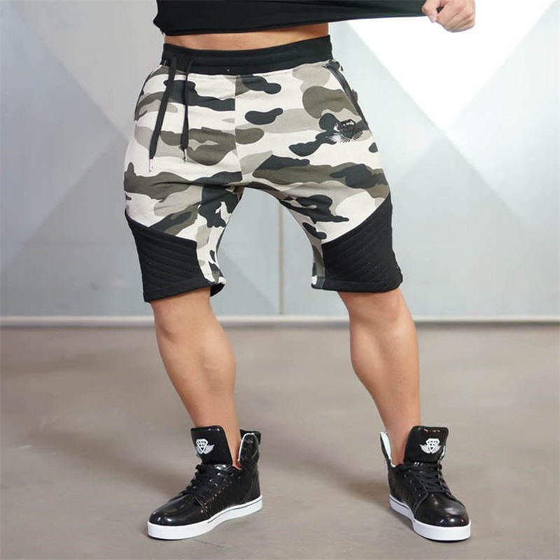 Muscle Fitness Summer Men shorts Tight sweatpants Spring Jogger trousers Brand Knee Leng ...